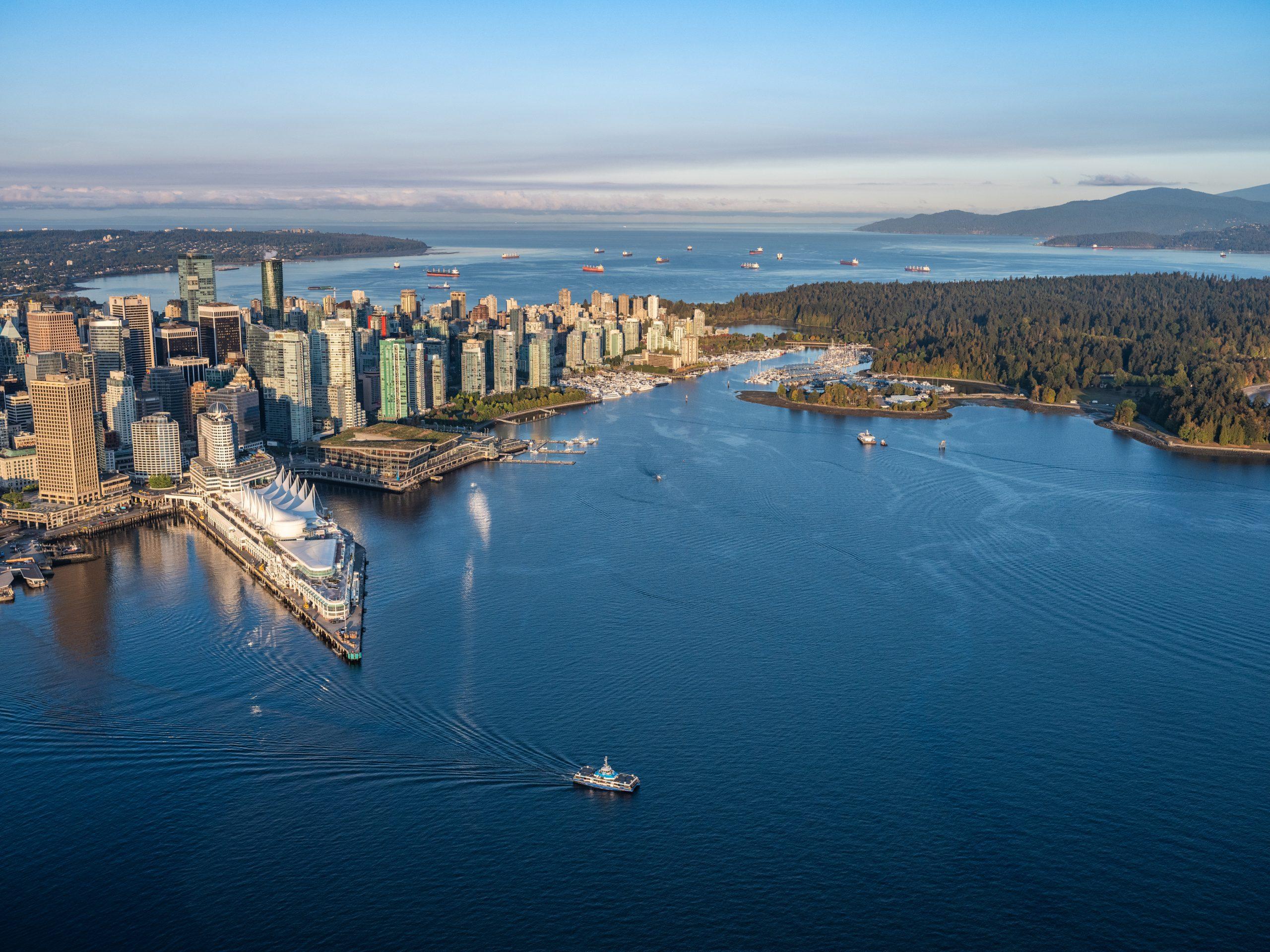 Seabus-Fähre unterwegs nach North Vancouver