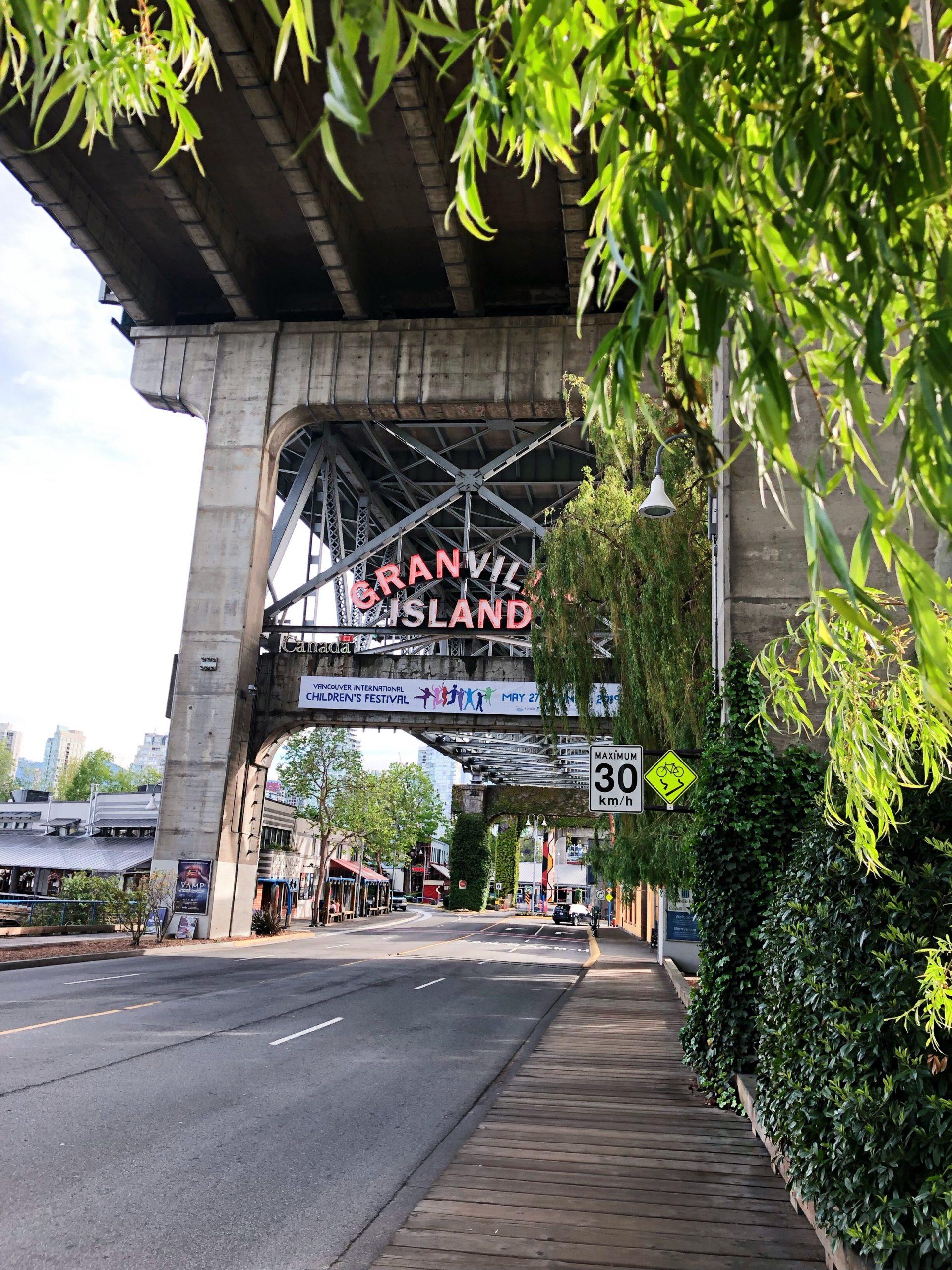 Granville Island Schriftzug in Vancouver