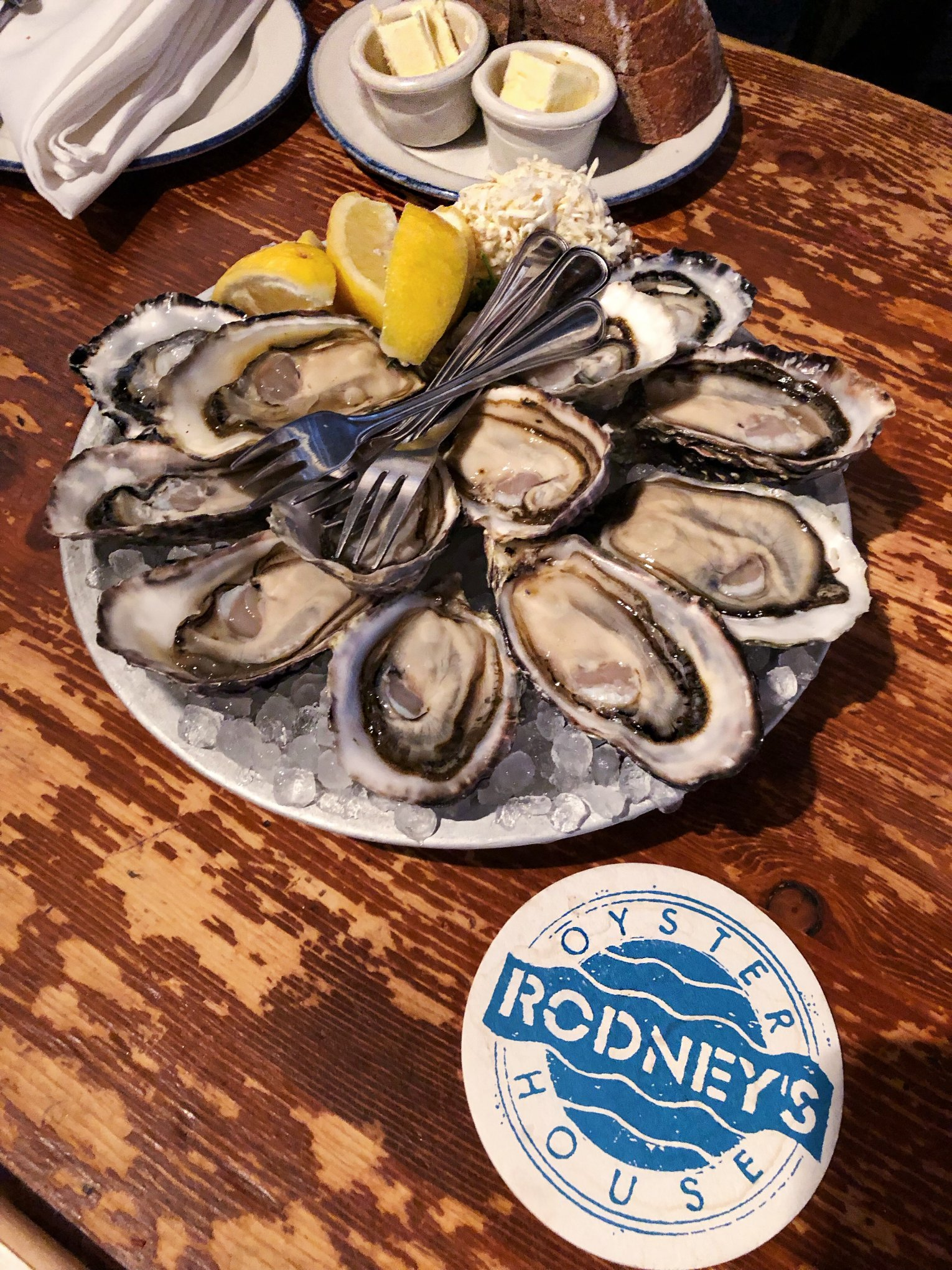 Austern in Rodneys Oyster House in Vancouver