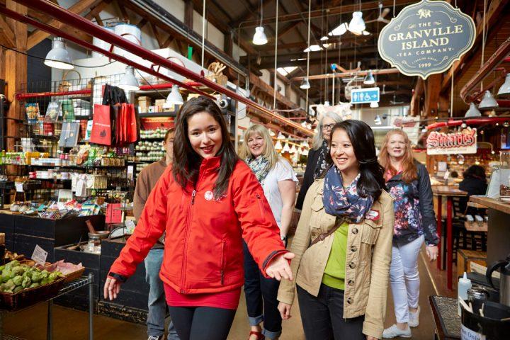Gruppe auf der Granville Island Market Tour