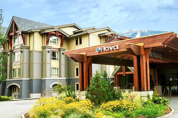 Eingangsbereich des Aava Hotels