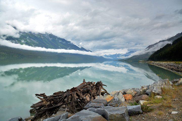 Spiegelung des Mount Robson im Moose Lake