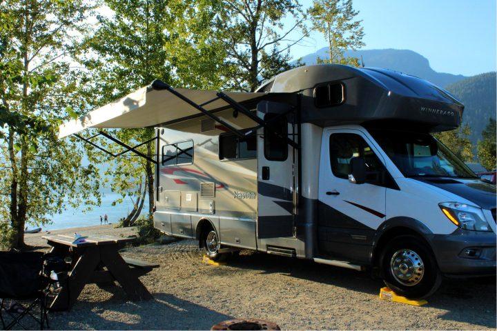 Wohnmobil auf dem Kilby Campground
