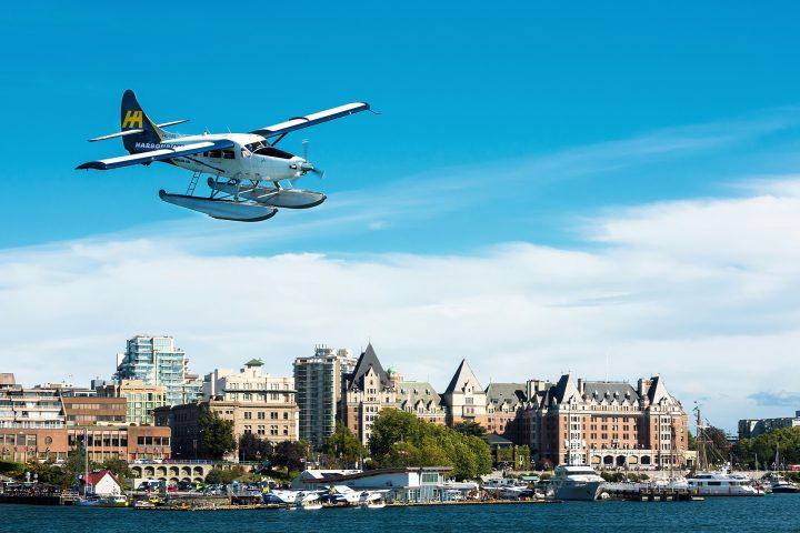 Seaplane beim Anflug auf Victoria